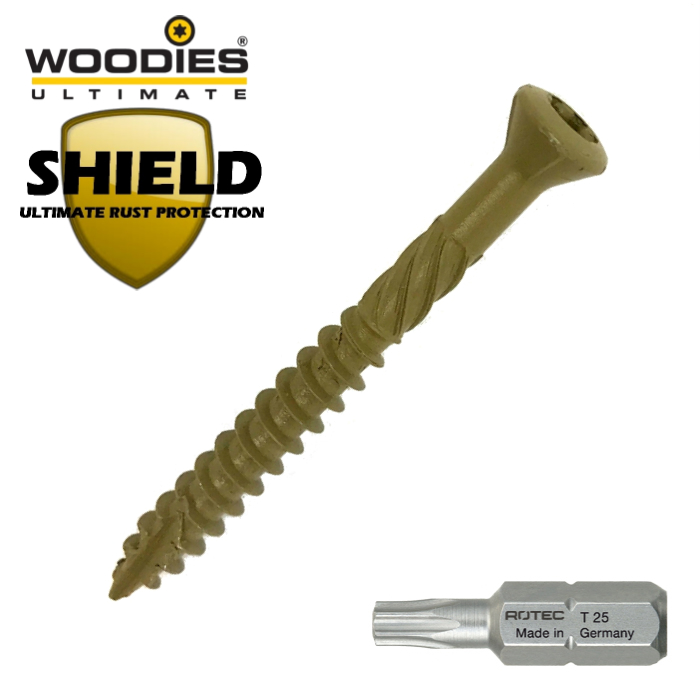 Woodies Shield vlonderschoeven antiroest coating