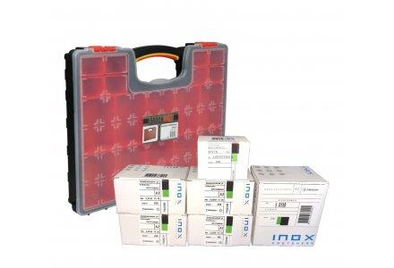 RVS spaanplaatschroeven voordeel assortiment + koffer (1200 schroeven)