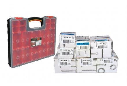 Spaanplaatschroeven voordeel assortiment pozidrive + koffer (1200 schroeven)