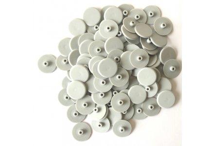 Afdekkapjes voor kozijnschroeven grijs torx 30 - 100 stuks