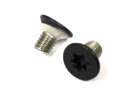 Metaalschroeven RVS A2 Torx 25 RAL 9005 mat zwart M5x8 - 200 stuks