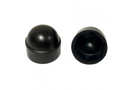Moerkappen M10 SW17 zwart 100 stuks