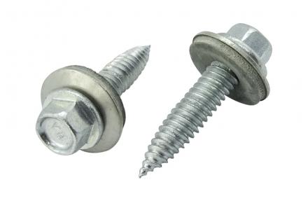 Dunblikschroeven - Zelftappende bi-metaal schroeven met EPDM ring 6x38 100 stuks