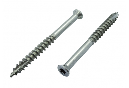 Reisser vlonderschroeven TS-A2 torx RVS A2 - 5,5x70 - 150 stuks - Ruspert Silver
