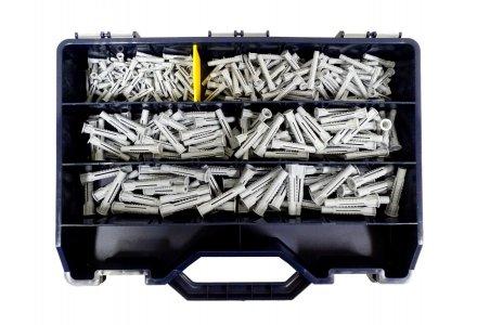 Nylon universeelpluggen assortiment in koffer (350 delig)
