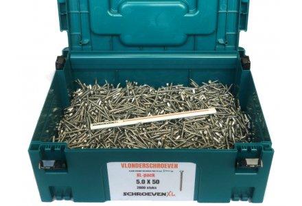 Vlonderschroeven XL-pack 5x50 RVS C1 2800 stuks