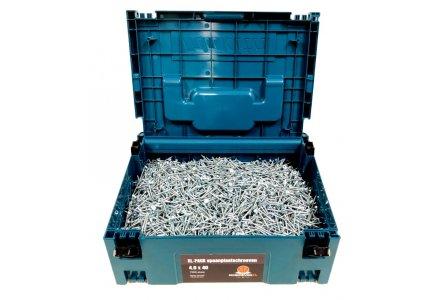 Spaanplaatschroeven XL-Pack 4x40 torx verzinkt 7000 stuks