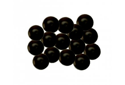 Afdekkapjes met steel voor kobo schroeven Ø 12mm 100 stuks zwart