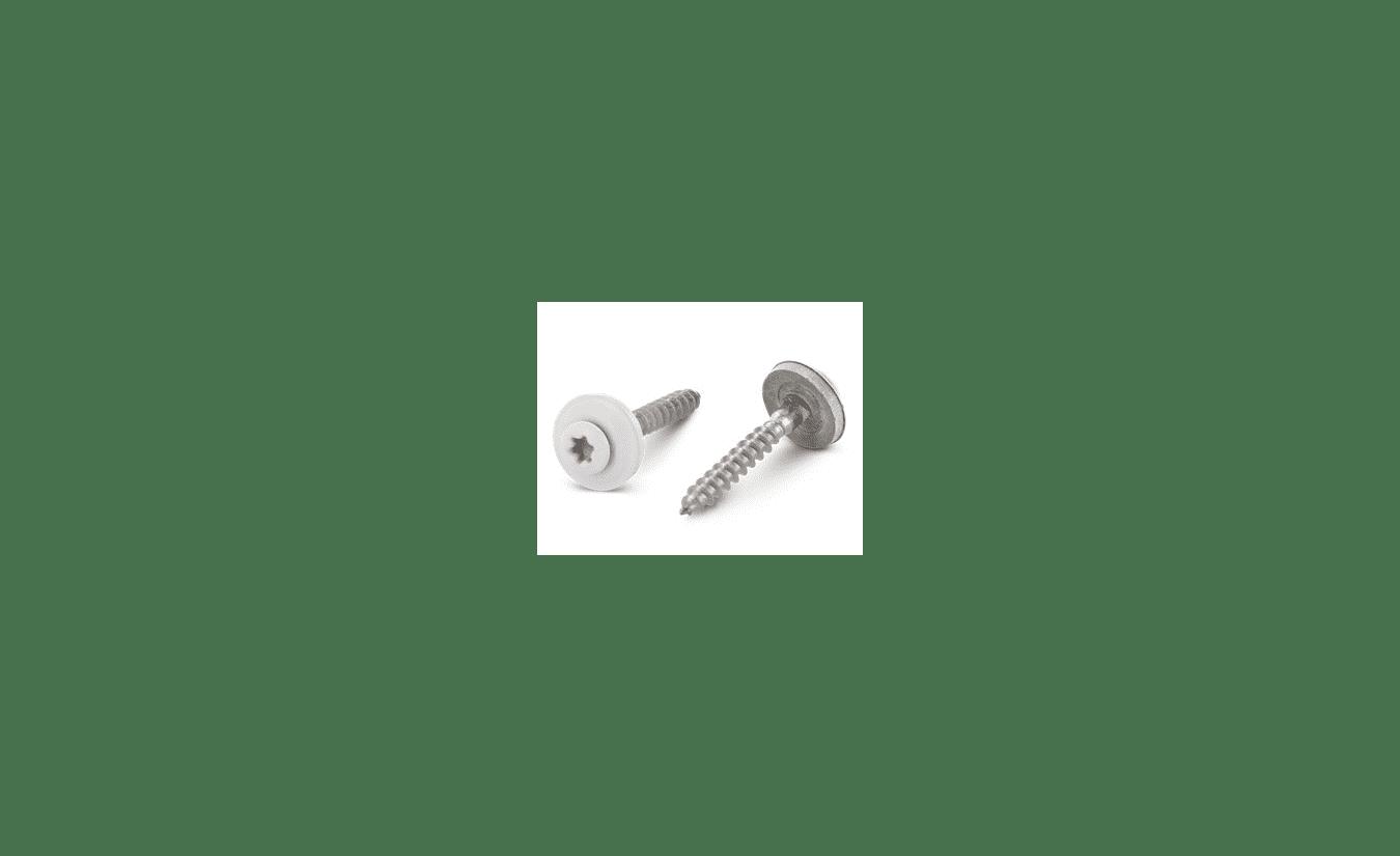 Spenglerschroeven 4,5x35 torx RVS A2 100 stuks RAL 9010